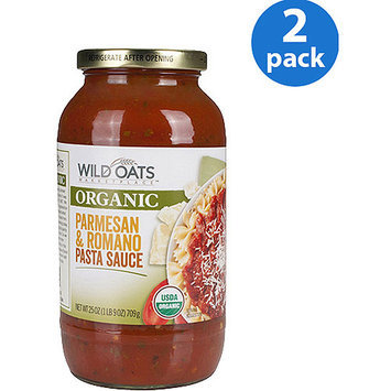 Wild Oats Organic Parmesan & Romano Pasta Sauce, 25 oz (Pack of 2)