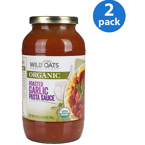 Wild Oats Organic Roasted Garlic Pasta Sauce, 25 oz (Pack of 2)