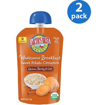 Hain Celestial Earth's Best Wholesome Breakfast Sweet Potato Cinnamon Pouch - 4 Ounce