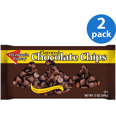 Plymouth Pantry Chocolate Flavored Chips, 12 oz (Pack of 2)
