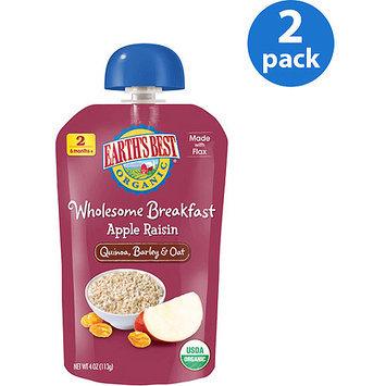Hain Celestial Earth's Best Wholesome Breakfast Apple Raisin Pouch - 4 Ounce