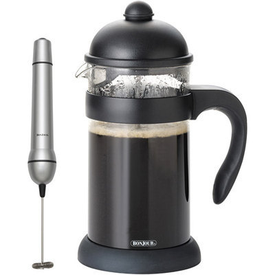 Bonjour 8-Cup Hugo French Press with Unbreakable Carafe - Black