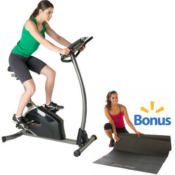 Fitness Reality U3500 Magnetic Resistance Upright Bike with Extended Seat Design and BONUS Exercise Mat