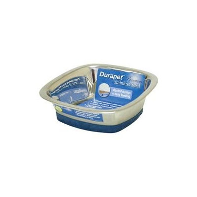 Ourpet S Company Ourpets Company PB-10368 Stainless Steel Durapet Square Bowl Medium