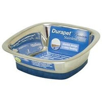 Ourpet S Company Ourpets Company PB-10367 Stainless Steel Durapet Square Bowl Small