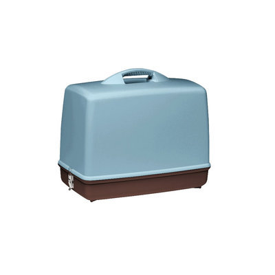 Singer Carry and Cover Sewing Case - Blue/ Brown