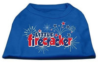 Ahi Little Firecracker Screen Print Shirts Blue XS (8)
