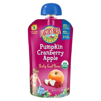 Earth's Best Baby Food Pouch - Pumpkin Cranberry Apple 4.2oz (12 Pack)