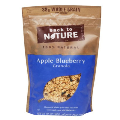 Back to Nature Apple Blueberry Granola, 12.5 oz