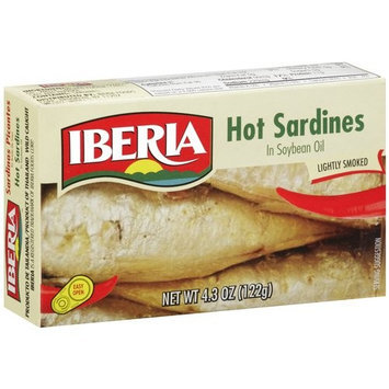 Iberia Lightly Smoked Hot Sardines In Soybean Oil, 4.3 oz