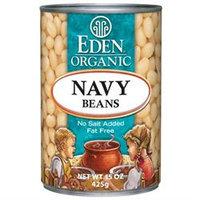 EDEN FOODS Organic Navy Beans Can 15 OZ