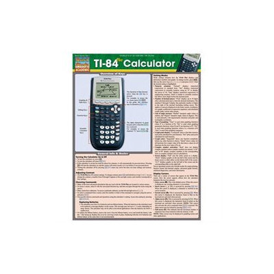 BarCharts 9781423221654 Ti 84 Plus Calculator Quickstudy Easel