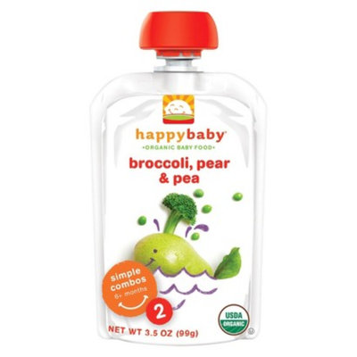 Happy Baby Stage 2 Peas Broccoli & Pear 3.5 oz