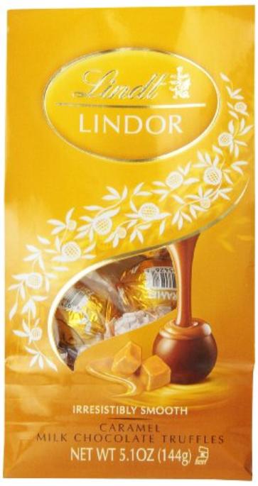 Lindt Lindor Caramel Milk Chocolate Truffles, 5.1 oz