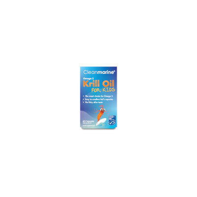 Cleanmarine Krill Oil for Kids 200mg Capsules x60