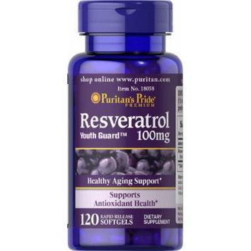 Puritan's Pride Resveratrol 100 mg-120 Softgels
