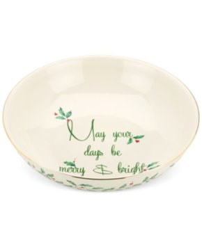Lenox Holiday May Your Days Be Merry Bowl