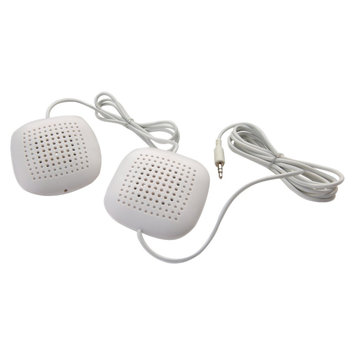 Headwaters, Inc. Sound Oasis Sound Oasis Pillow Speakers with In-Line Volume Control, White