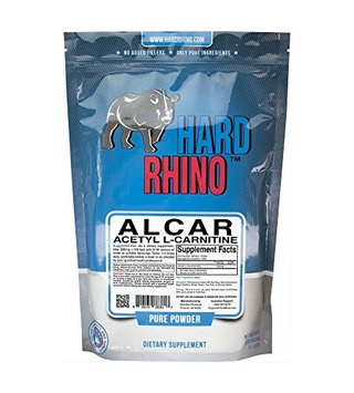 Hard Rhino Acetyl L-Carnitine (ALCAR) Powder, 500 Grams