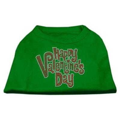 Ahi Happy Valentines Day Rhinestone Dog Shirt Emerald Green XL (16)