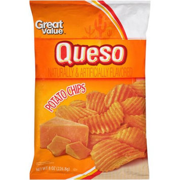 Wal-mart Stores, Inc. Great Value Queso Wavy Potato Chips, 8 oz