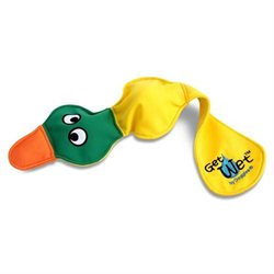 Doggles TYGWDK03 Get Wet Duck Dog Toy -Yellow