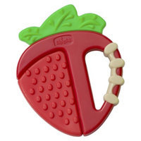 Chicco NaturalFit Teether - Fruity Tooty Strawberry Silicone