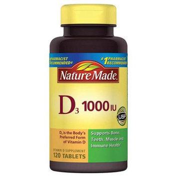 Pharmavite Llc Nature Made Vitamin D3 Dietary Supplement Tablets, 1000 I.U, 120 count