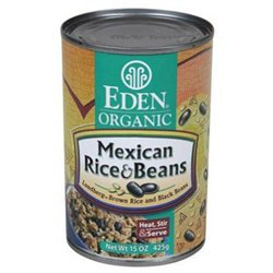 EDEN FOODS Organic Mexican Rice & Black Beans 15 OZ