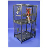 A & E Cage Co Large Double Stack Bird Cage Color: Platinum