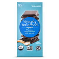 Simply Balanced 72% Cacao Sea Salt Chocolate Bar