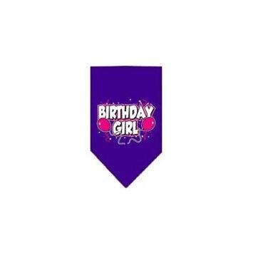 Ahi Birthday Girl Screen Print Bandana Purple Small