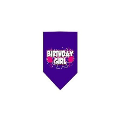Ahi Birthday Girl Screen Print Bandana Purple Small