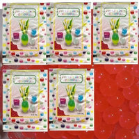 5 Pack of Crystal Jelly Decor Colorful Beads