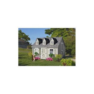 Little Cottage Co. Little Cottage 8x10 CCK-WDIY 8x10 Cape Cod Kennel Panelized Kit