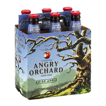 Angry Orchard Hard Cider Crisp Apple - 6 PK