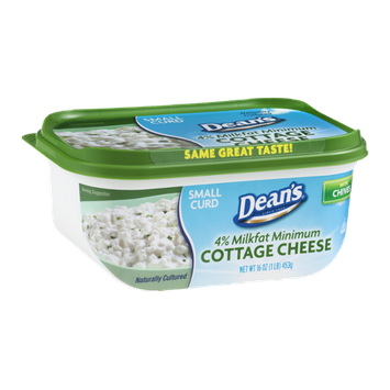Dean's 4% Milkfat Cottage Cheese with Chives Small Curd