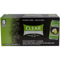 Clear American Ice Coconut Lime Flavored Sparkling Water, 12 fl oz, 8 pack
