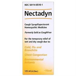 Heel Nectadyn, Homeopathic Cough Syrup/Expectorant, Honey-Natural Lemon Flavor, 4.23 oz