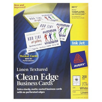 Avery Inkjet Two-Sided Clean Edge Business Cards - Linen White (200