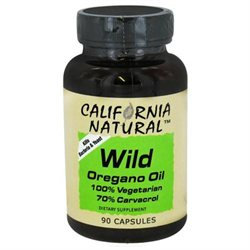 California Natural Wild Oregano Oil - 400 mg - 90 Capsules