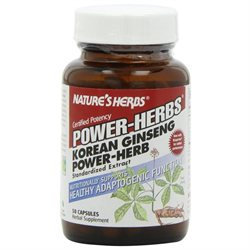 Twinlab Korean Ginseng Power by Nature's Herbs - 50 Capsules