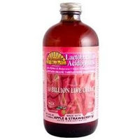Lactobacillus Acidophilus Liquid in Apple Strawberry Flavor by Dynamic Health Laboratories - 16 oz