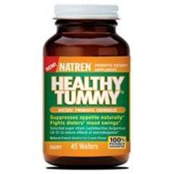Healthy Tummy, Dieters' Probiotic Chewables, 45 Wafers, Natren
