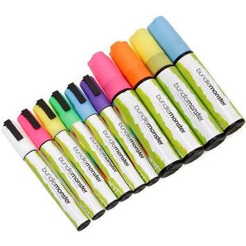 Bundle Monster 10pc Multi Color 6mm and 15mm Chisel Tip Liquid Chalk Marker Set