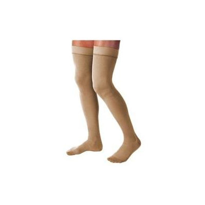 Jobst 114215 Relief 20-30 mmHg Closed Toe Thigh Highs with Silicone Top Band - Size & Color- Black X-Large