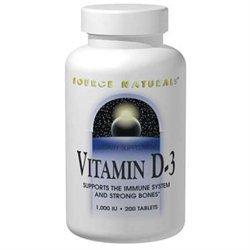 Source Naturals Vitamin D-3 - 5000 IU - 120 Capsules