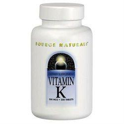 Source Naturals Vitamin K - 500 mcg - 200 Tablets