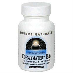 Source Naturals Coenzymated B-6 - 100 mg - 60 Tablets