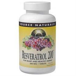 Source Naturals Resveratrol 200 - 200 mg - 60 Tablets